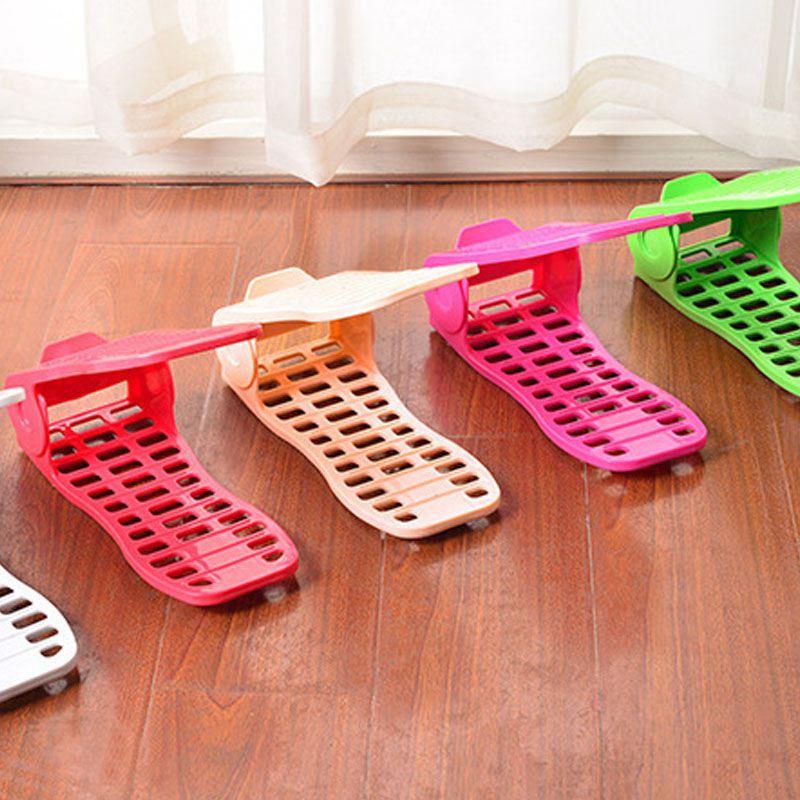 Schuhregale-Einstellbare-Moderne-Doppelreinigung-Lagerung-Schuhe-Rack-Wohnz-O1G9 Indexbild 6