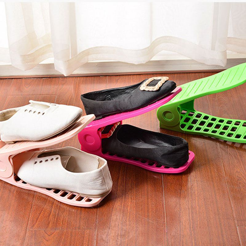 Schuhregale-Einstellbare-Moderne-Doppelreinigung-Lagerung-Schuhe-Rack-Wohnz-O1G9 Indexbild 7