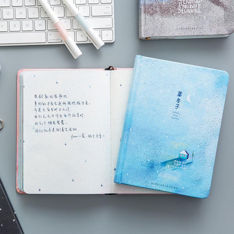 Paginas-a-color-de-Tendencia-creativa-Cuaderno-A5-de-patron-de-Pequena-casa-azul miniatura 5