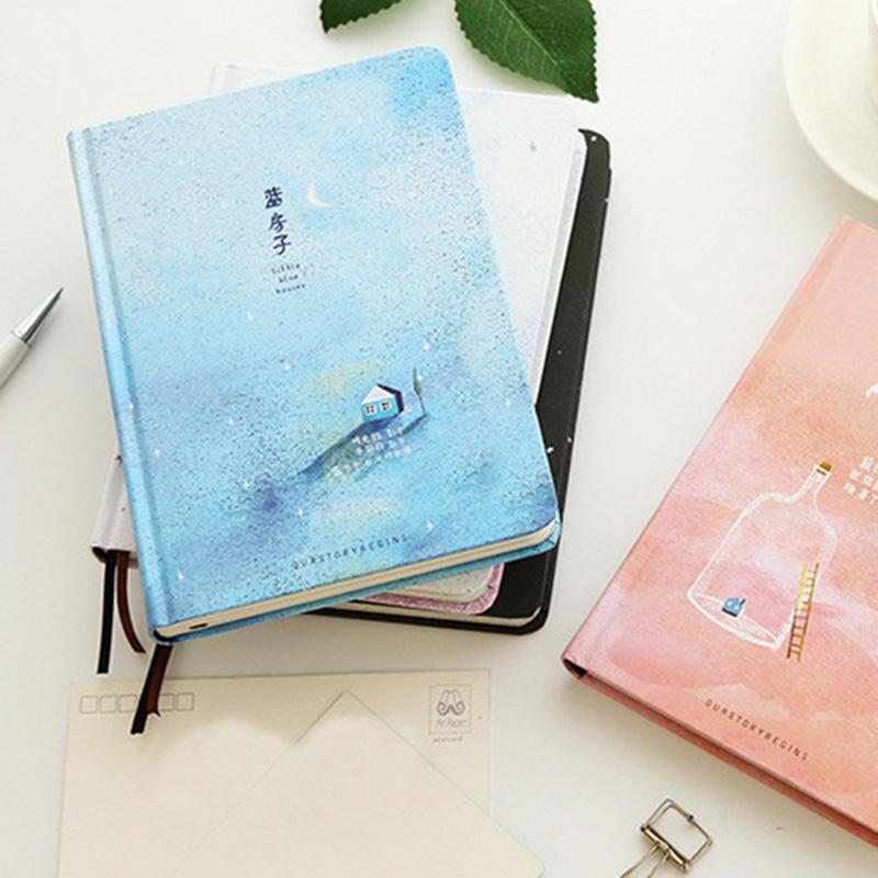 Paginas-a-color-de-Tendencia-creativa-Cuaderno-A5-de-patron-de-Pequena-casa-azul miniatura 6