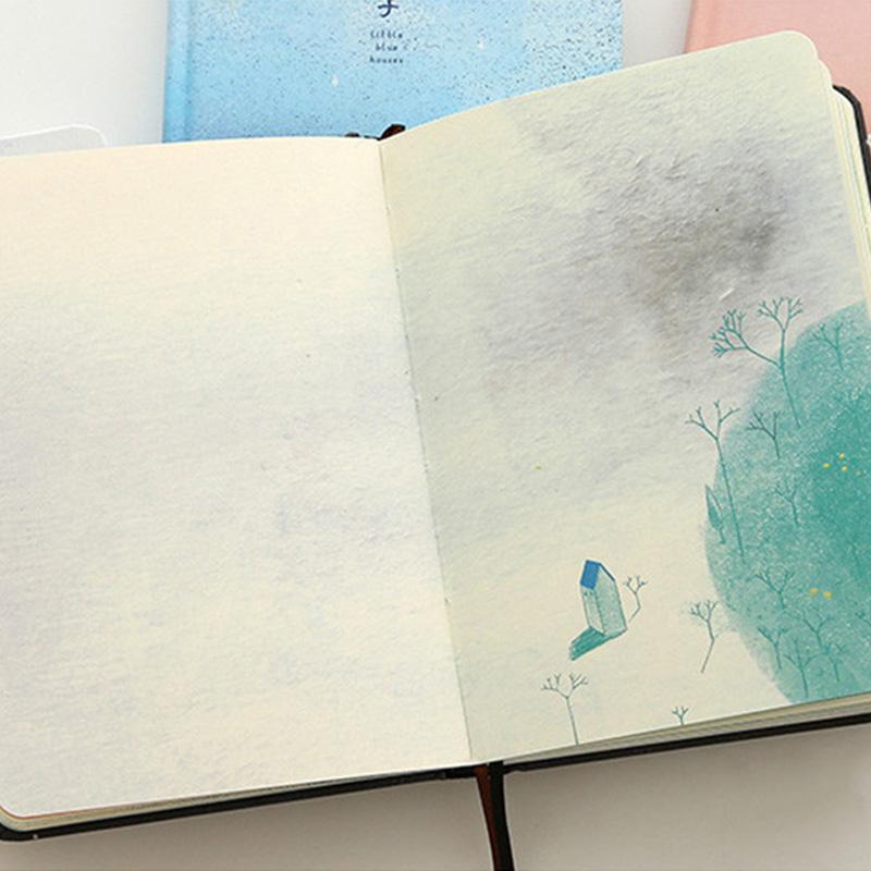 Paginas-a-color-de-Tendencia-creativa-Cuaderno-A5-de-patron-de-Pequena-casa-azul miniatura 14