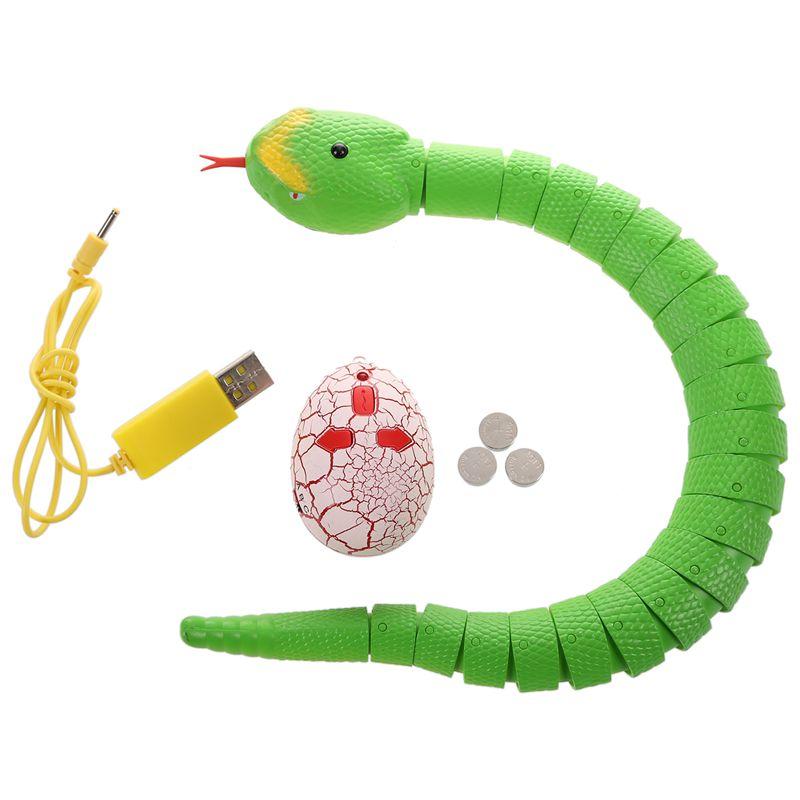 Giocattolo-del-serpente-di-RC-serpente-telecomandato-ricaricabile-con-i-gi-H6O8 miniatura 3