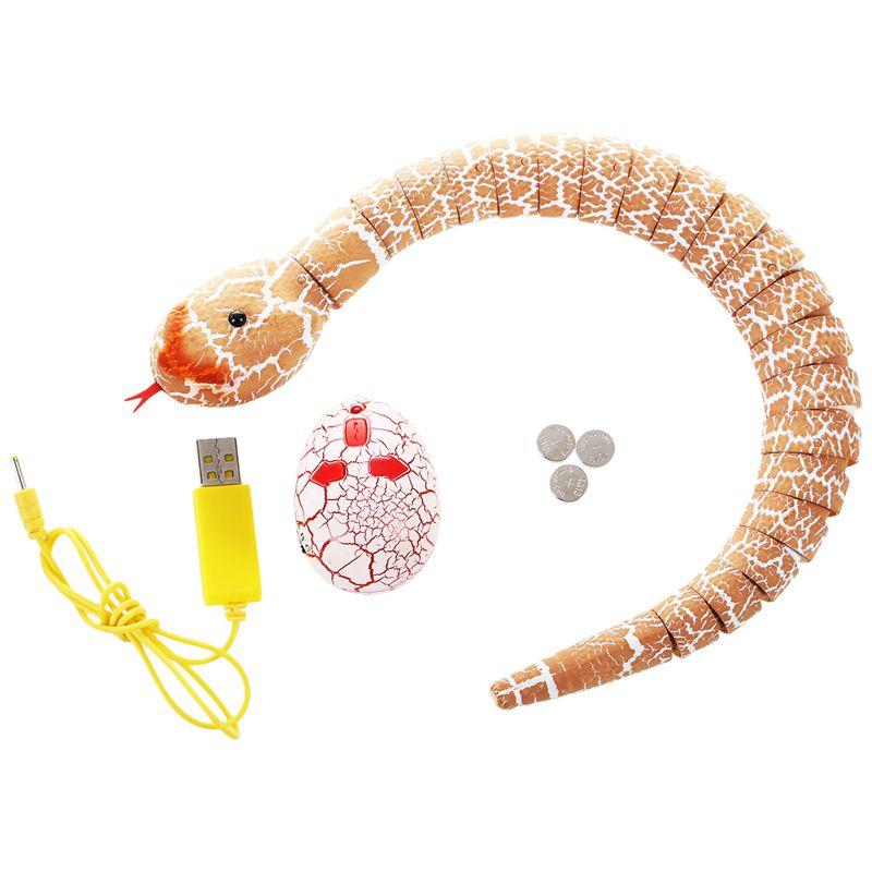 Giocattolo-del-serpente-di-RC-serpente-telecomandato-ricaricabile-con-i-gi-H6O8 miniatura 21