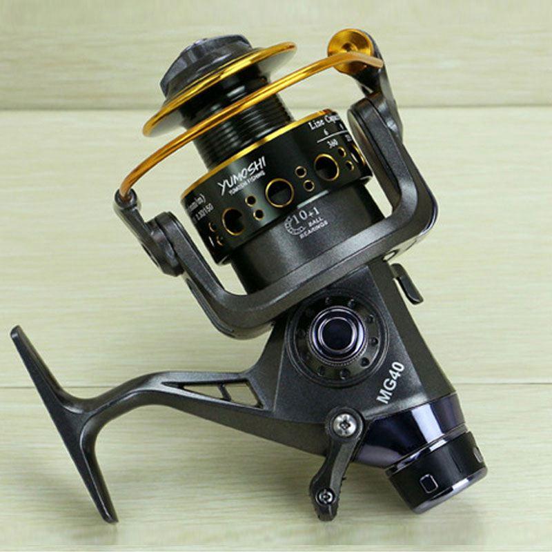 Yumoshi-5-2-1-10-1-BB-PESCA-CON-MULINELLO-anteriore-e-posteriore-DRAG-bobine-spinning-anche-B6F6 miniatura 9