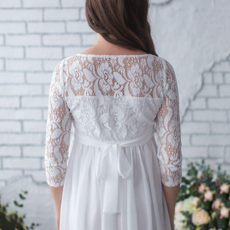 9617e4363d802 Women Maternity Clothes Dresses Lace Evening Dress Pregnancy Gown Dress Pre  E7S5
