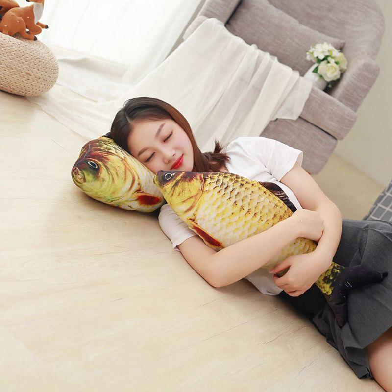 Big-Fish-Shape-Decorative-Cushion-Throw-Pillow-with-Inner-Home-Decor-Cartoon-S1P thumbnail 2