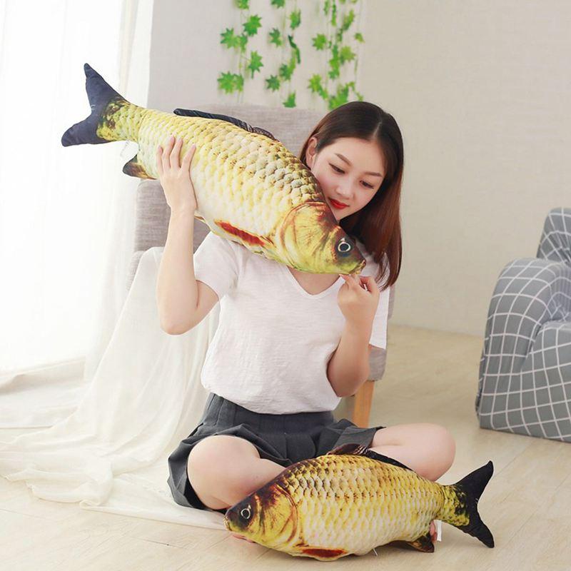 Big-Fish-Shape-Decorative-Cushion-Throw-Pillow-with-Inner-Home-Decor-Cartoon-S1P thumbnail 4