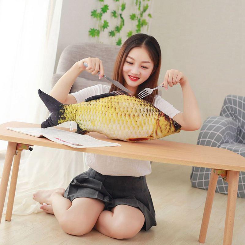 Big-Fish-Shape-Decorative-Cushion-Throw-Pillow-with-Inner-Home-Decor-Cartoon-S1P thumbnail 5