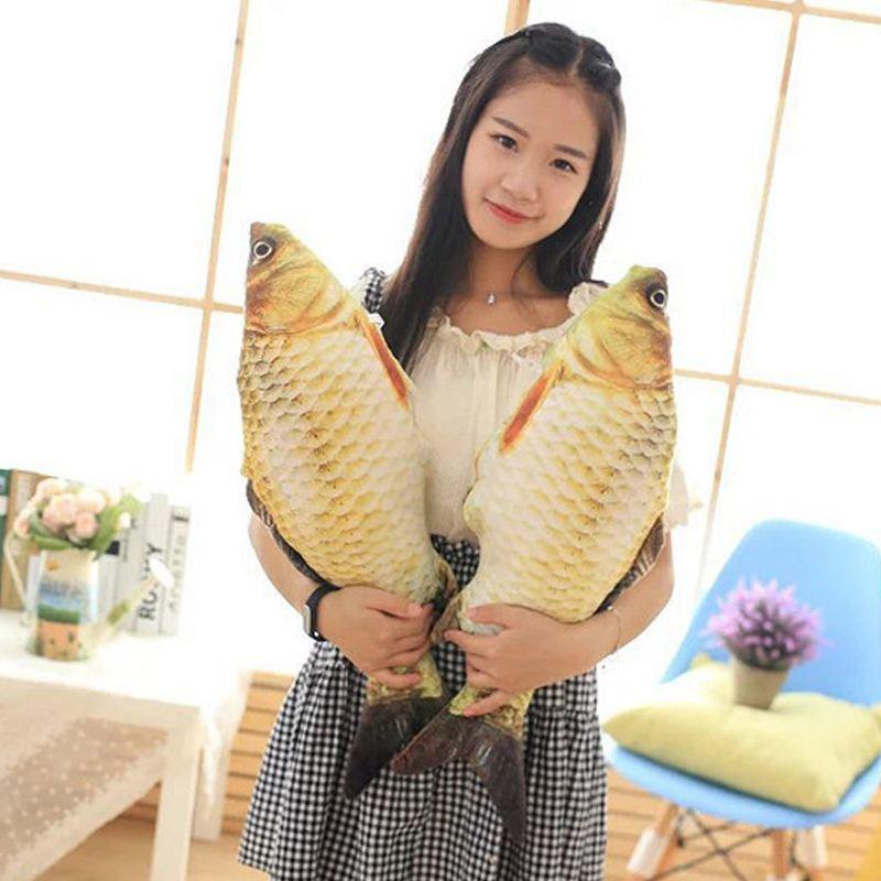 Big-Fish-Shape-Decorative-Cushion-Throw-Pillow-with-Inner-Home-Decor-Cartoon-S1P thumbnail 6