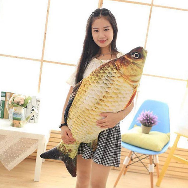 Big-Fish-Shape-Decorative-Cushion-Throw-Pillow-with-Inner-Home-Decor-Cartoon-S1P thumbnail 7