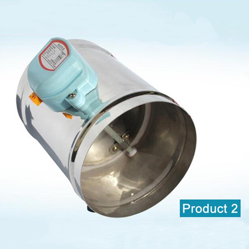 125mm edelstahl luftklappe ventil HVAC elektrische luftkanal ...