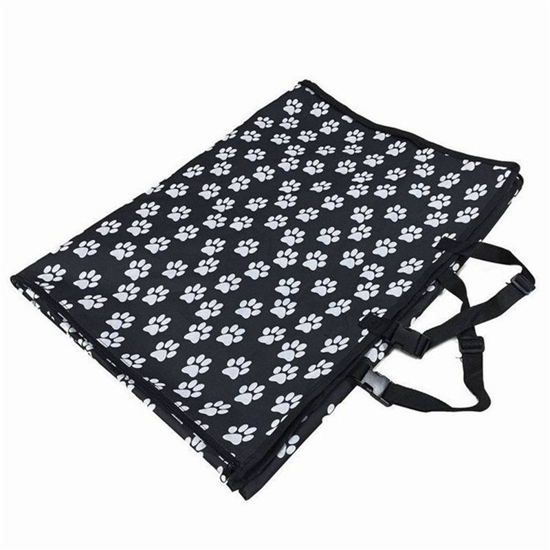 3XPet carriers Oxford Fabric Paw pattern Car Pet Seat Covers Waterproof Ba E9E1