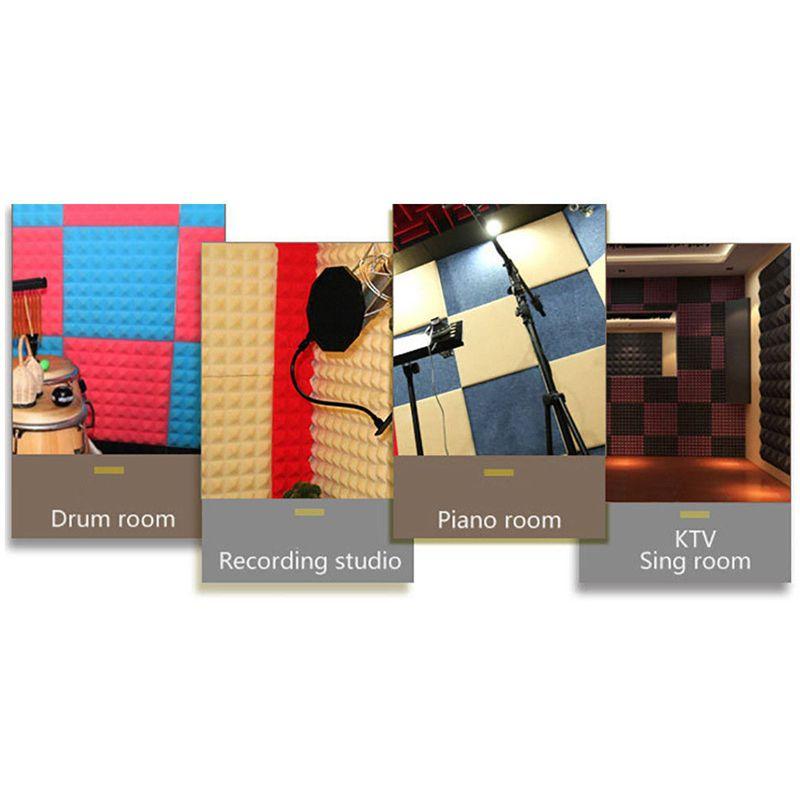 akustikschaumplatte sound stop absorption schwamm studio ktv schalldaemmend i8o7 ebay. Black Bedroom Furniture Sets. Home Design Ideas