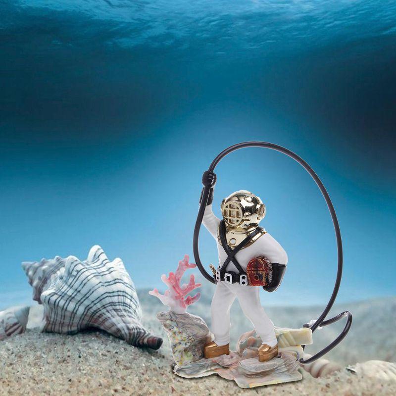 Aquarium-Fischbehaelter-Meer-Schatz-Taucher-Luftaktion-Ornament-Dekoration-G6J4