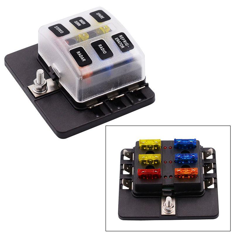 8x (6 Voie Cable Chaussure Plat sauvegarde Box Support Avec Lumière DEL Kit Pour Voiture Boo j7
