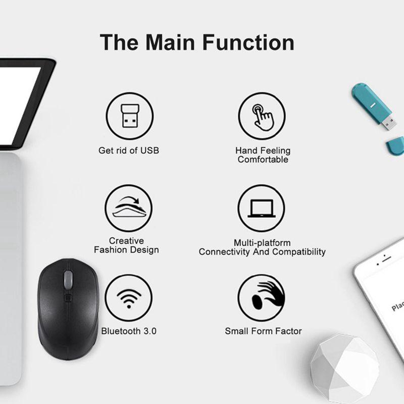1X-Motospeed-BG20-souris-sans-fil-Bluetooth-2-4G-Mini-souris-optique-2400-D-4D4 miniature 12
