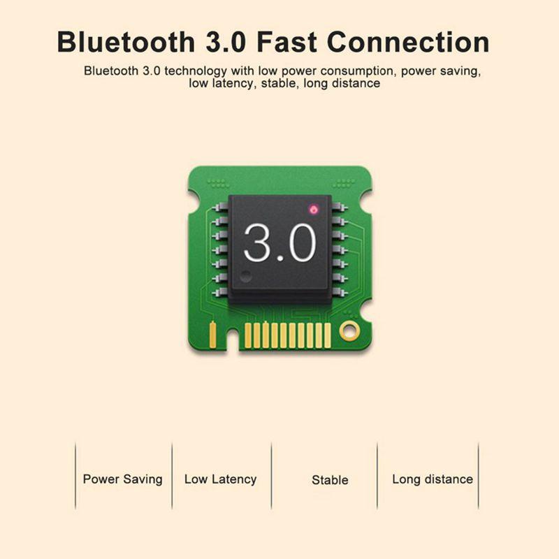 1X-Motospeed-BG20-souris-sans-fil-Bluetooth-2-4G-Mini-souris-optique-2400-D-4D4 miniature 14