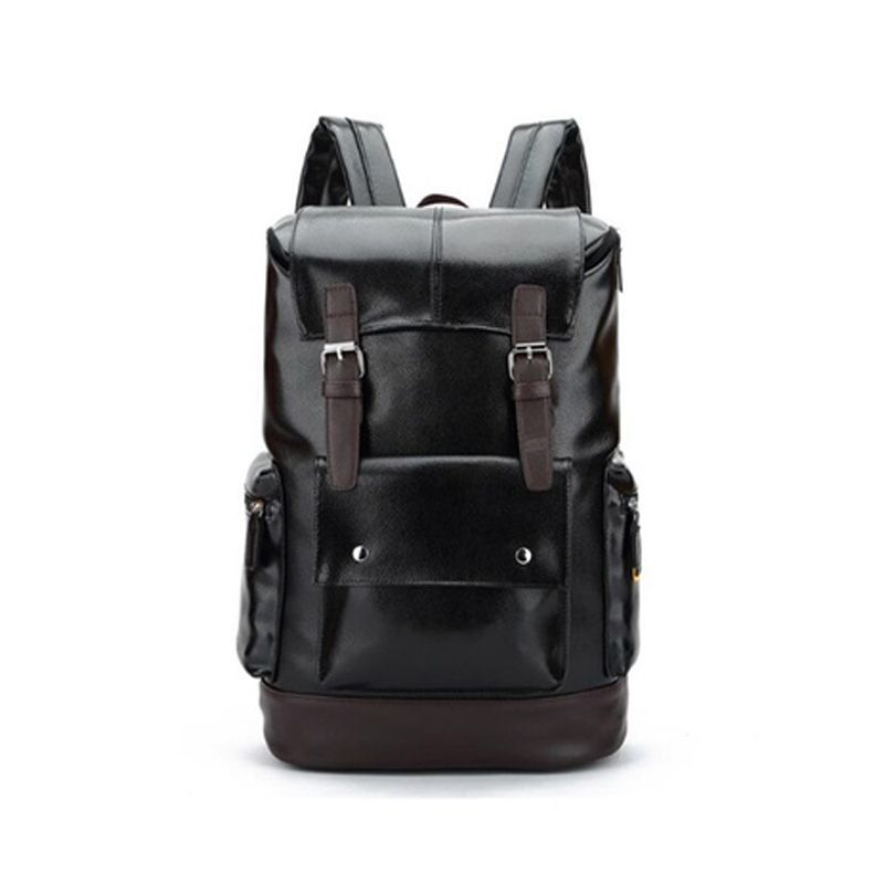 Leather Casual Backpack College Backpack Men s Vintage Leather Sports Backp  E8S3 76b8170c8605c