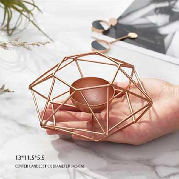 Nordic-style-ins-geometric-metal-candlestick-simple-home-hexagonal-candlestick-3 thumbnail 3