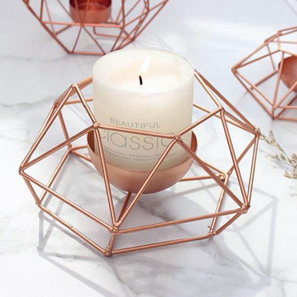 Nordic-style-ins-geometric-metal-candlestick-simple-home-hexagonal-candlestick-3 thumbnail 4