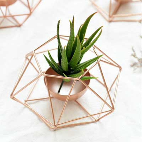Nordic-style-ins-geometric-metal-candlestick-simple-home-hexagonal-candlestick-3 thumbnail 5