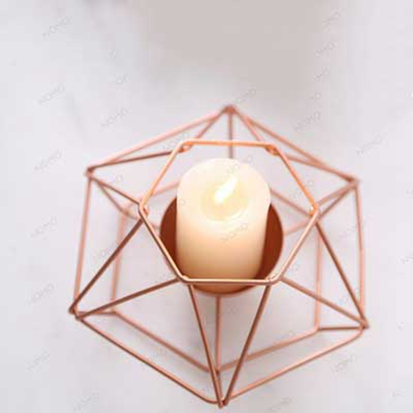 Nordic-style-ins-geometric-metal-candlestick-simple-home-hexagonal-candlestick-3 thumbnail 6