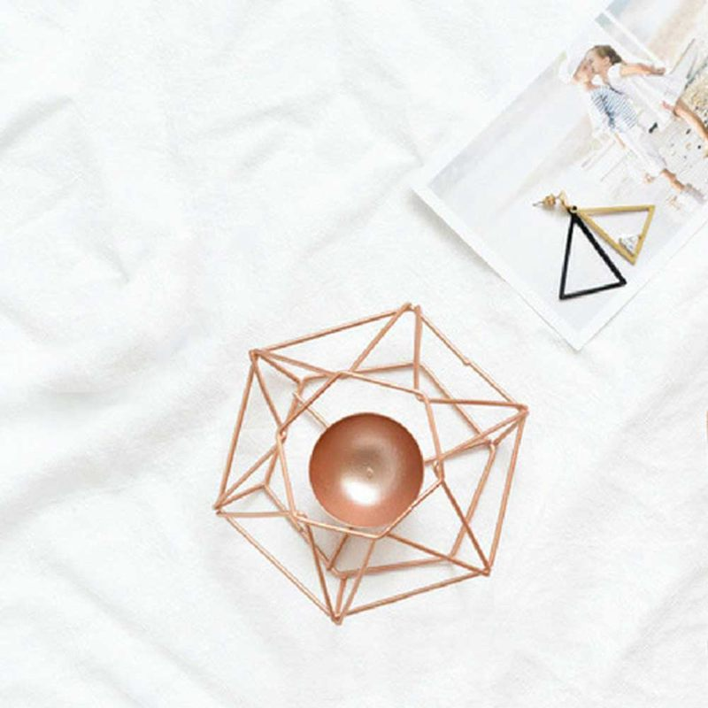 Nordic-style-ins-geometric-metal-candlestick-simple-home-hexagonal-candlestick-3 thumbnail 7