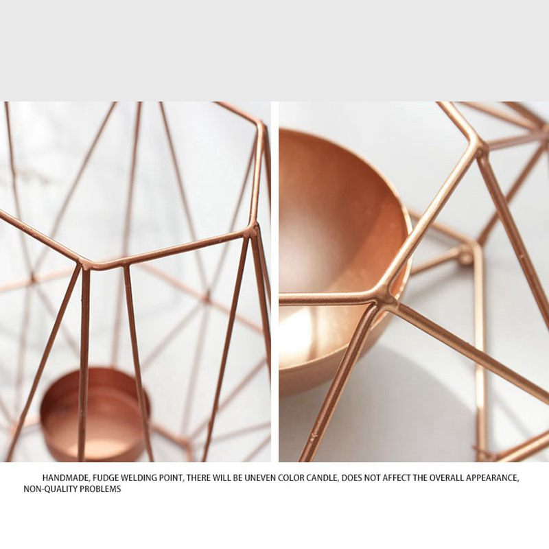 Nordic-style-ins-geometric-metal-candlestick-simple-home-hexagonal-candlestick-3 thumbnail 8