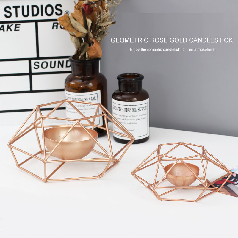 Nordic-style-ins-geometric-metal-candlestick-simple-home-hexagonal-candlestick-3 thumbnail 9