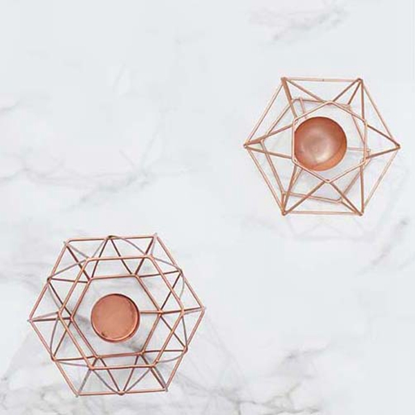 Nordic-style-ins-geometric-metal-candlestick-simple-home-hexagonal-candlestick-3 thumbnail 10