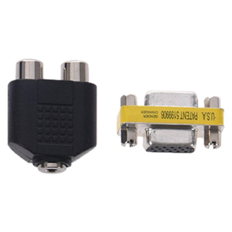 VGA-High-Definition-Cable-RCA-Sound-Adapter-HD-Box-PAL-NTSC-For-SEGA-Dreamcas-I3