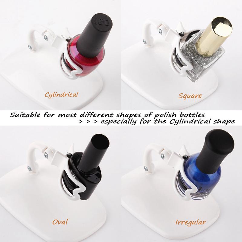 5X(Botella de esmalte de unas ajustable Soporte de exhibicion Clip ...