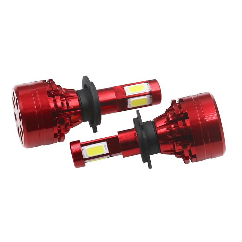 2pzs-H7-6000K-LED-Super-brillante-Kit-de-faros-coche-4-lados-Blanco-B4D2