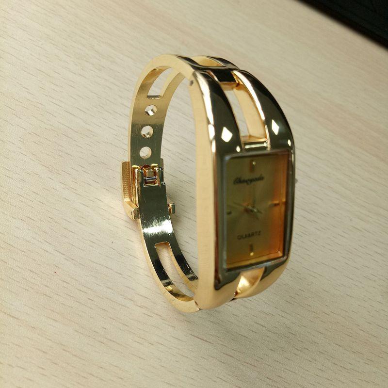 Chaoyada-Fashion-Luxus-Damen-Gold-Armbanduhr-Quarz-Armband-Uhr-u7x6 Indexbild 4