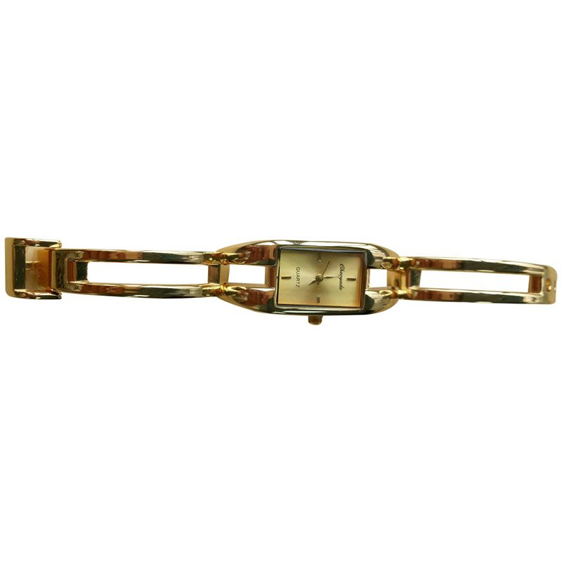 Chaoyada-Fashion-Luxus-Damen-Gold-Armbanduhr-Quarz-Armband-Uhr-u7x6 Indexbild 2