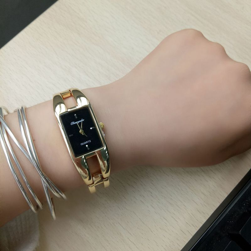 Chaoyada-Fashion-Luxus-Damen-Gold-Armbanduhr-Quarz-Armband-Uhr-u7x6 Indexbild 14