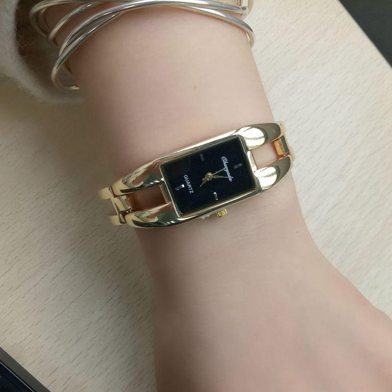 Chaoyada-Fashion-Luxus-Damen-Gold-Armbanduhr-Quarz-Armband-Uhr-u7x6 Indexbild 15