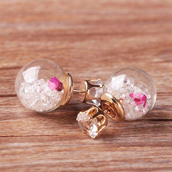 Mode Damen Ohrringe Ohrschmuck elegante Blume Strass Ohrstecker