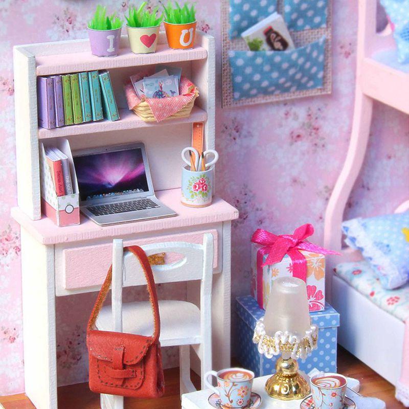 3X(1 24 24 24 Handmade Doll House Furniture Diy Miniature Dust Cover Wooden Toys U4V8 e6e7f8