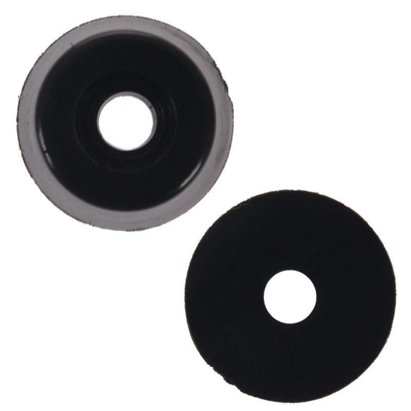 60 Pcs Universal Tapered Black Rubber Feet Bumper Pad Washer 15mmx10mm Furniture Legs Furniture