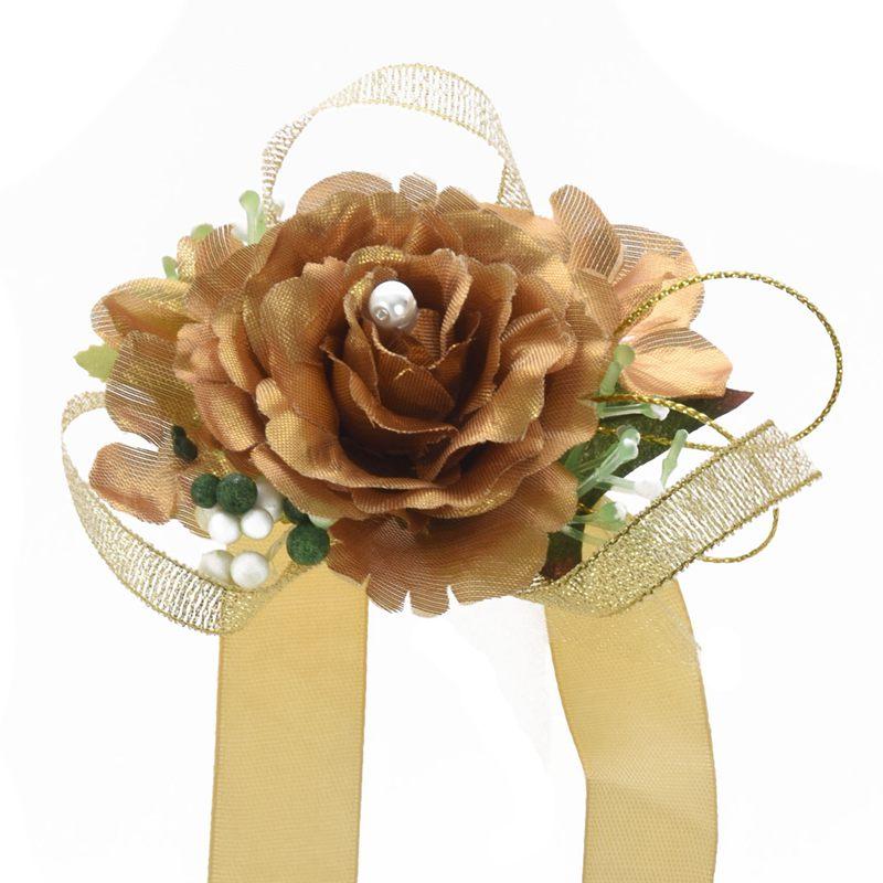 Wrist-Corsage-Bracelet-Bridesmaid-Hand-Flower-Wedding-Party-dark-blue-M3Q1 thumbnail 11