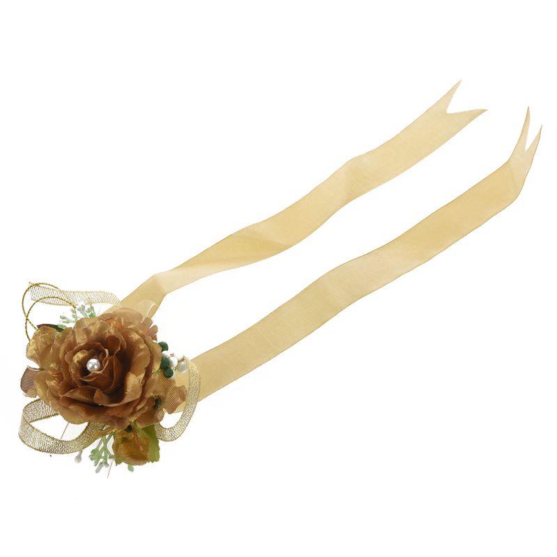Wrist-Corsage-Bracelet-Bridesmaid-Hand-Flower-Wedding-Party-dark-blue-M3Q1 thumbnail 12
