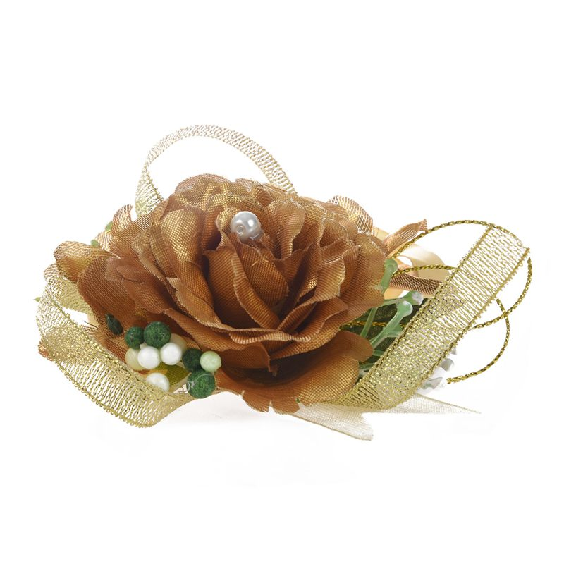 Wrist-Corsage-Bracelet-Bridesmaid-Hand-Flower-Wedding-Party-dark-blue-M3Q1 thumbnail 13