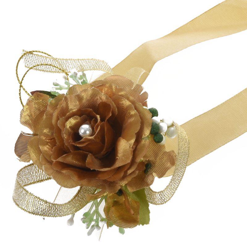 Wrist-Corsage-Bracelet-Bridesmaid-Hand-Flower-Wedding-Party-dark-blue-M3Q1 thumbnail 14
