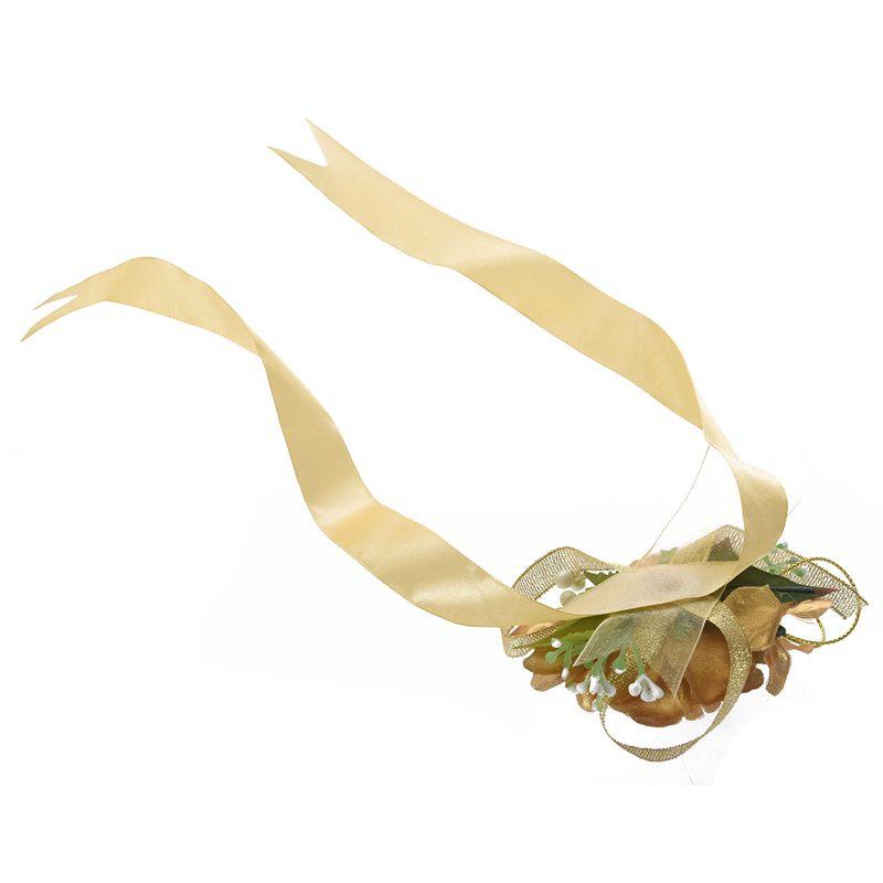 Wrist-Corsage-Bracelet-Bridesmaid-Hand-Flower-Wedding-Party-dark-blue-M3Q1 thumbnail 16