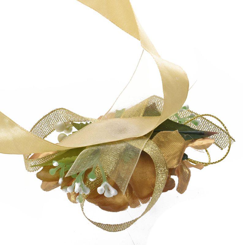 Wrist-Corsage-Bracelet-Bridesmaid-Hand-Flower-Wedding-Party-dark-blue-M3Q1 thumbnail 17