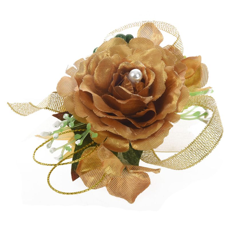 Wrist-Corsage-Bracelet-Bridesmaid-Hand-Flower-Wedding-Party-dark-blue-M3Q1 thumbnail 10