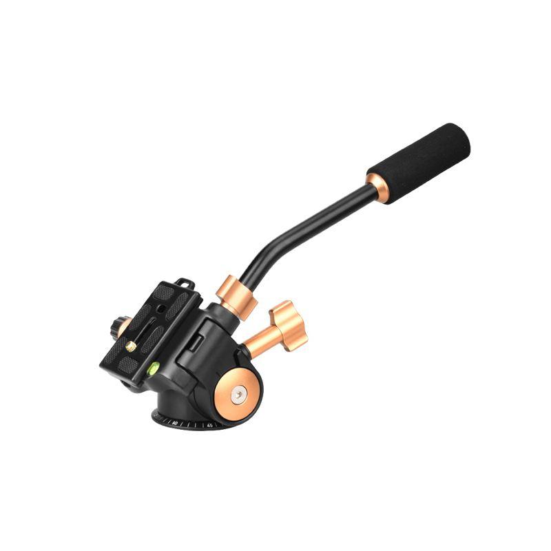 Fluid Head Rocker Arm Video Tripod Ball Head for DSLR Camera Tripod Monopod U9B2