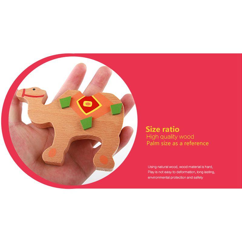 Basteln & Kreativität Babyspielzeug Bildungs Kamel Ausgleich Bloecke Holzspielzeug Holz Balance S H7V6