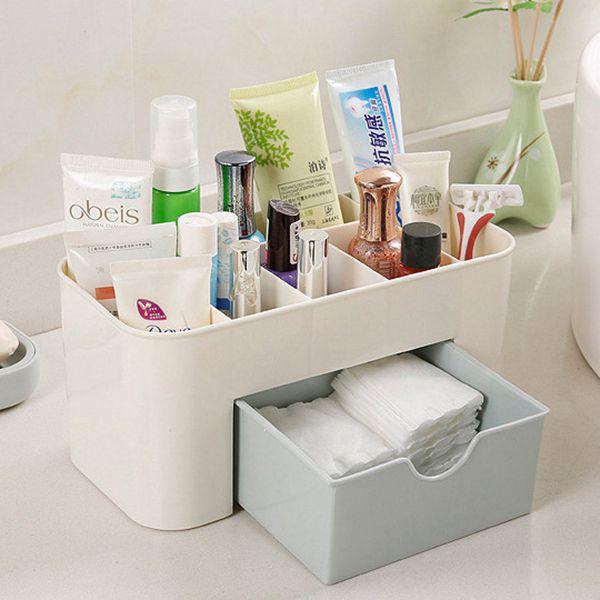 mini bureau maquillage boite de rangement cosmetique caisse rouge a levres f4v6 ebay. Black Bedroom Furniture Sets. Home Design Ideas